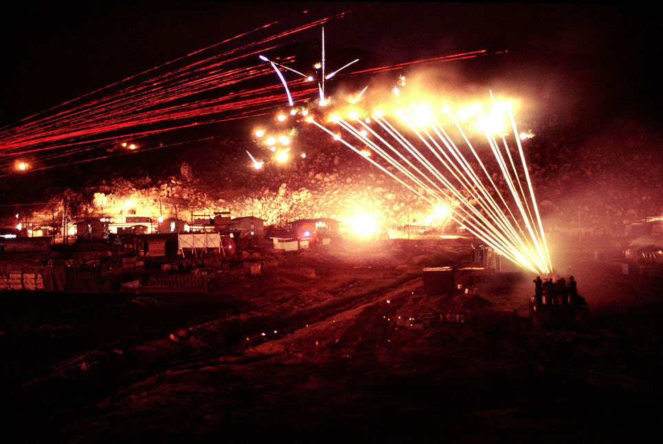 Long-exposure night gunfire photos from Vietnam war revealed