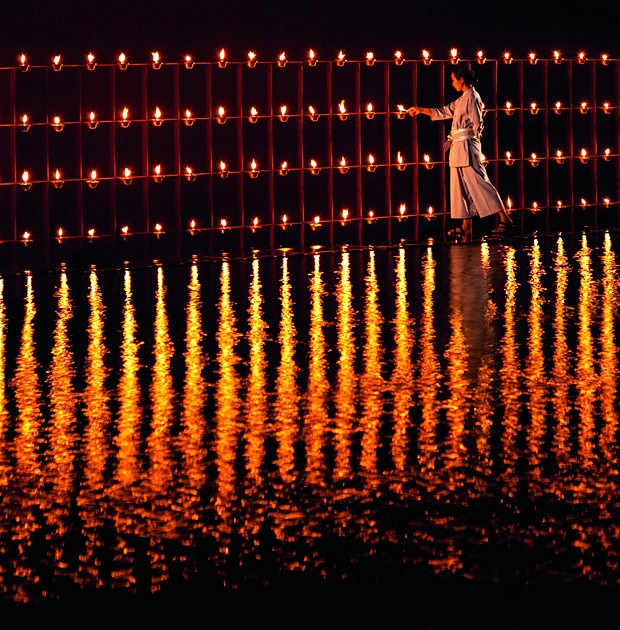 Thousands of shimmering candles:Thailand - Ritz Carlton Resort