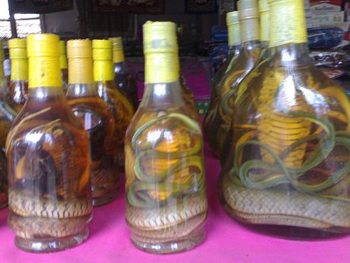 Lao Market Tonphueng - Laotian Snake Whiskey
