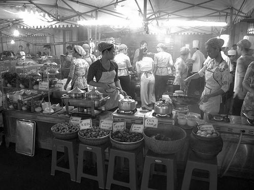 Street kitchen in Saigon Ho Chi Minh City