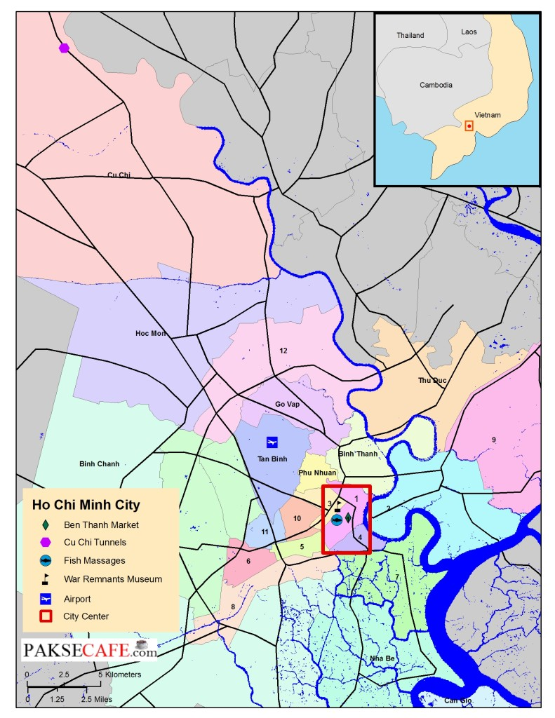 4 things to in Saigon Ho Chi Minh City Map