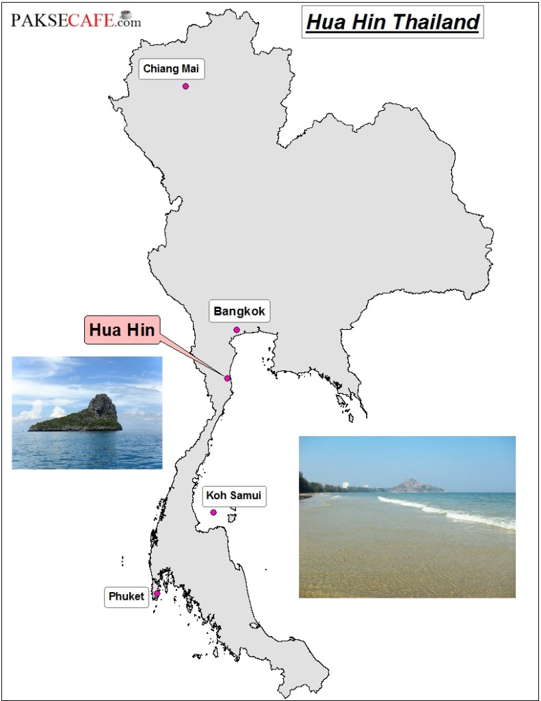 Map of Hua Hin