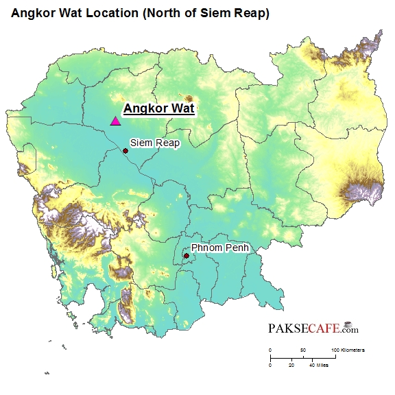 Siam Reap Angkor Wat Map