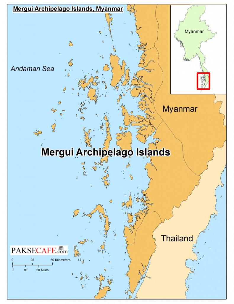 mergui archipelago myanmar map