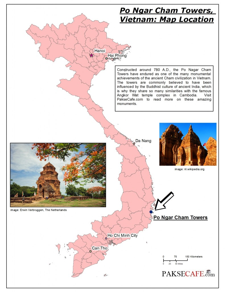 Cham Towers Vietnam Map Location