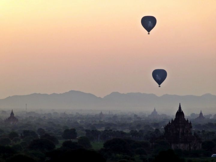 Sunrise in Bagan Myanmar