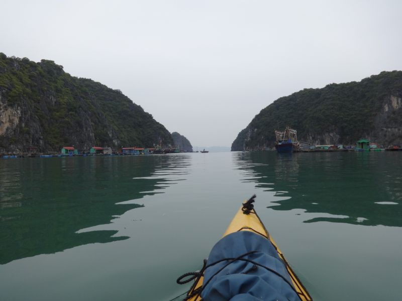 Kayaking in Cat Ba Vietnam