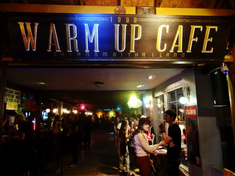 Warm Up Cafe -- a very popular bar Nimman Chiang Mai