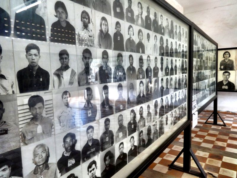 Pictures at the school/prison near Cambodia Genocide Museaum
