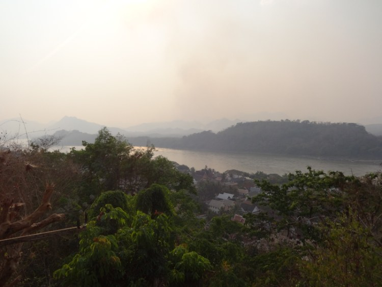 view from Wat That Chomsi Luang Prabang Laos