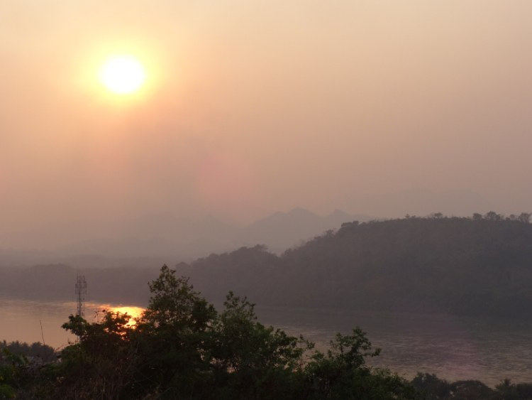 Sunset at Wat That Chomsi - Luang Prabang Laos