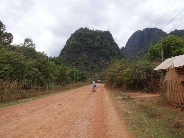 Vang Vieng, Laos. Biking