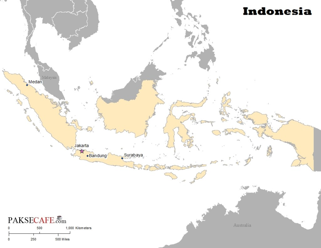 Indonesia location and its many islands
