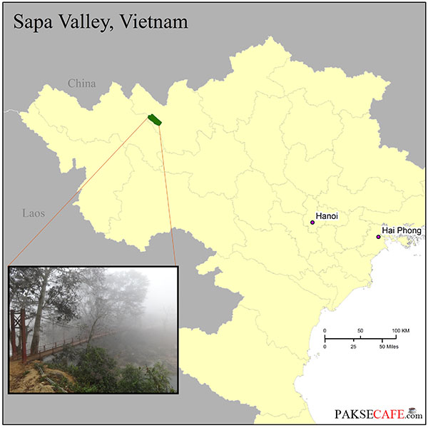 Sapa Valley is located in Northern Vietnam
