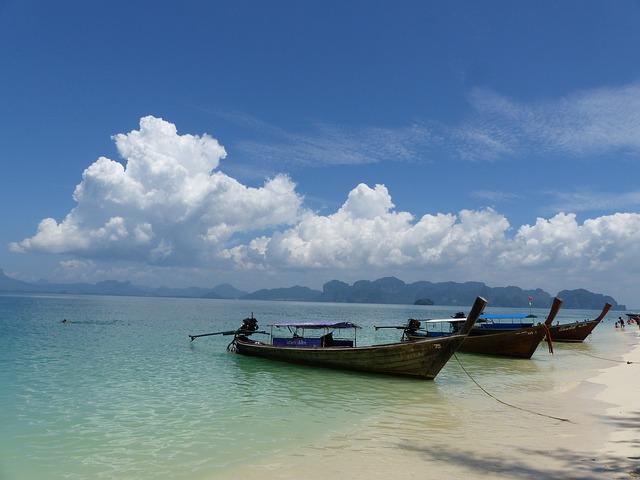 boats near krabi Thailand