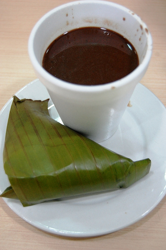 Puto ug Sikwate (Suman and Tsokolate) by georgeparrilla, on Flickr